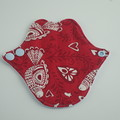 "Red Birds Lip Liner 6"" Washable Reusable Cloth Menstrual Pad for Thong/G-string"