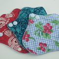 "Teal Lip Liner 6"" Washable Reusable Cloth Menstrual Pad for Thong/G-string"