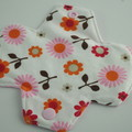 "Liner 6"" Super Soft T-Shirt Fabric Floral Washable Reusable Cloth Menstrual Pad"