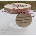 Personalised Etched  Jars - Large