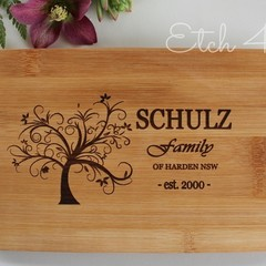 Personalised Family Bamboo Cheese/ Snack boards