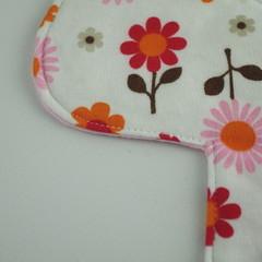 "Liner 6"" Super Soft T-Shirt Fabric Floral Washable Reusable Cloth Menstrual Pad"