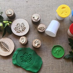 Timber Playdough Stamp SetWoodland