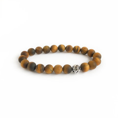 Tiger Eye Gemstone & Filigree Sterling Silver Beaded Bracelet, Unique Gift