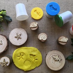 Timber Playdough Stamp SetSeaside