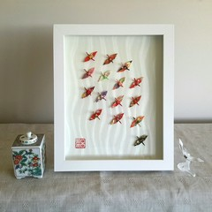 Wish Upon A Wing - original exquisite red origami artwork