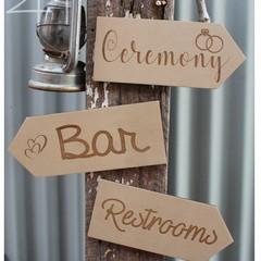 Wedding Arrow Signs