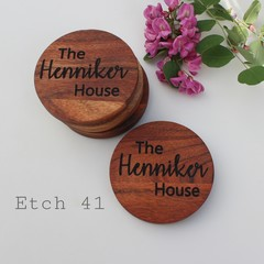 Personalised Chunky Timber Acacia Coasters