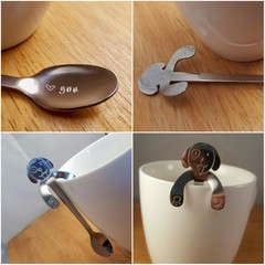 Dog Coffee Spoon, Hand Stamped,I love You,