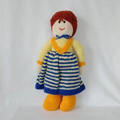 Hand Knitted Doll - Miss Christobel