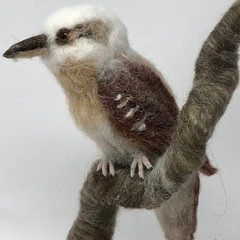 Needle felted Kookaburra, Australian animal, felt bird sculpture, needle felted