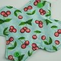"6"" Liner Cherries Washable Reusable Cloth Menstrual Pad"