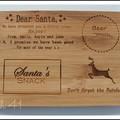 Personalised Etched Santa Snack Board