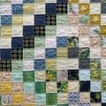 Modern handmade baby, child vintage style patchwork quilt.