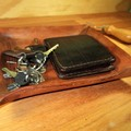 Personalized Leather Valet Tray. Compass Rose or other images Dresser Tray, Desk