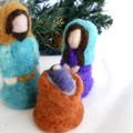 Nativity Set, needle felted, Free Shipping, Made To Order, Waldorf style dolls,