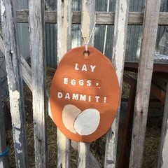 Lay Eggs, Dammit! Decorative Plaque