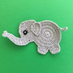 Baby Elephant Crochet Applique
