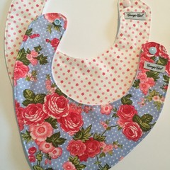'Sweet Spring' Set of Two Baby Bibs