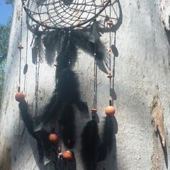 Black and orange dreamcatcher