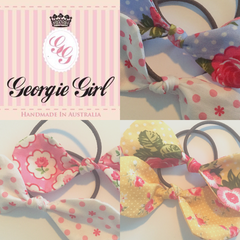 Signature 'Georgie Girl' Set of Two Ponytail Ties
