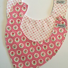 'Pretty in Pink' Set of Two Baby Bibs