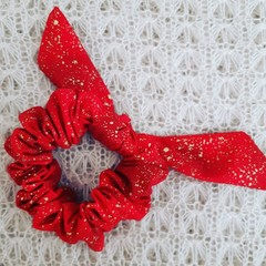 Christmas Scrunchy - Red Gold