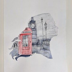 Watercolour Painting - London Dreams ORIGINAL