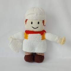 Hand Knitted Doll - Benjamin Bakewell the Village Baker