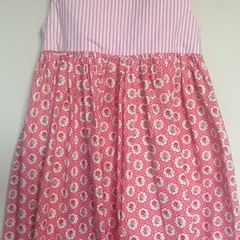 Size 4 'Pinstripe Pink' Tea Dress