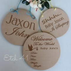 Baby Plaque Set