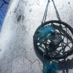 Black and teal dreamcatcher
