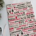 Christmas Bon Bon   Reusable   Zero Waste    Serviette   Set of 6  Free Shipping