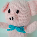 Hand Knitted Toy - Percy the Piglet