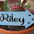 Personalised Paint Washed Arrow