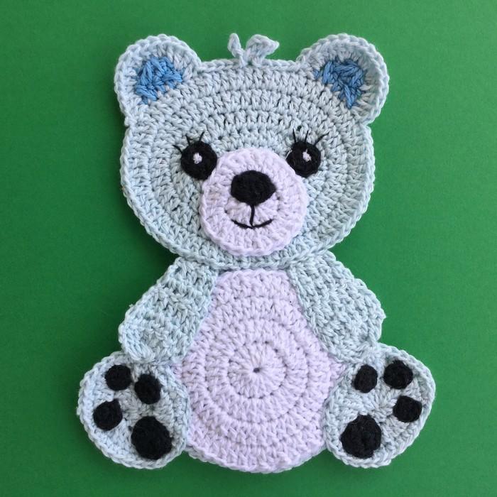Polar Bear & Brown Bear Appliques - Free Crochet Pattern | Crochet ... | 700x700