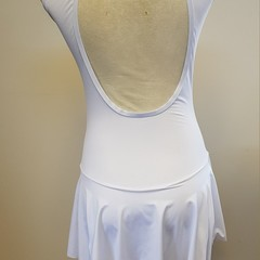 White Ice Skating Dress with Back Cut Out - Size 12 - SAMPLE