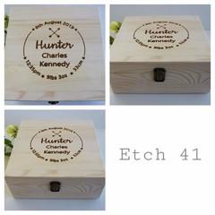 Personalised Memory Box 20x 20cm