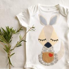 Baby Boys Kangaroo onesie. Newborn - 2 yrs Gift.