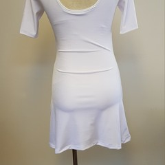 White Stretch Velvet Dress - Sizes 8 and 10 - SAMPLE