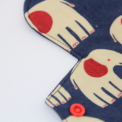 "Elephants 8"" Light Washable Reusable Cloth Menstrual Pad"