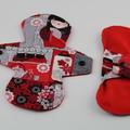 """Kimono 8"""" Light Washable Reusable Cloth Menstrual Pad"""