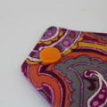 "Purple Paisley 8"" Light Washable Reusable Cloth Menstrual Pad"