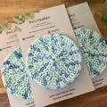Limited Edition -Face Scrubbies-reusable & washable - Mint Blue