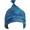 Blue baby hat in merino wool. Newborn to 3 months