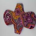 "Purple Paisley 9"" Regular Washable Reusable Cloth Menstrual Pad"