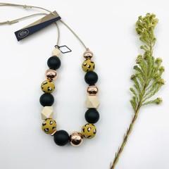 Mustard Leopard Necklace