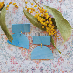 Statement Drop Earring 'Colour me Blue' Collection