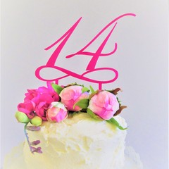 Number cake topper - Custom made - Assorted materials