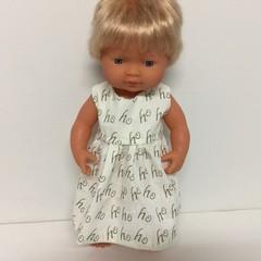 Miniland Dolls Christmas Dress to fit 38cm Dolls